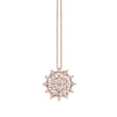 14K Strawberry Gold® Pendant with Nude Diamonds 7/8 cts. | TRJV 8
