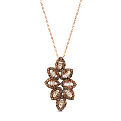 14K Strawberry Gold® Pendant with Nude Diamonds™ 1/4 cts., Chocolate Diamonds® 7/8 cts. | TRKH 88