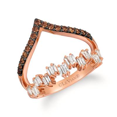 14K Strawberry Gold® Ring with Chocolate Diamonds® 1/3 cts., Nude Diamonds™ 3/8 cts. | TRKH 91