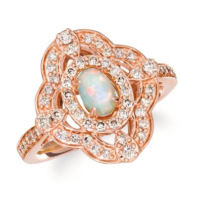 14K Strawberry Gold® Neopolitan Opal™ 1/5 cts. Ring with Nude Diamonds 5/8 cts. | TRLD 48