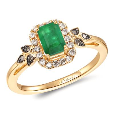 14K Honey Gold™ New Emerald 1/3 cts. Ring | TRNP 4