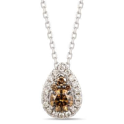 Adjnecklc with Chocolate Diamonds® 1/3 cts., Nude Diamonds™ 1/8 cts. | TROK 21