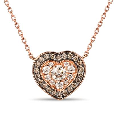 Adjnecklc with Nude Diamonds™ 1/3 cts., Chocolate Diamonds® 1/6 cts. | TROL 4D