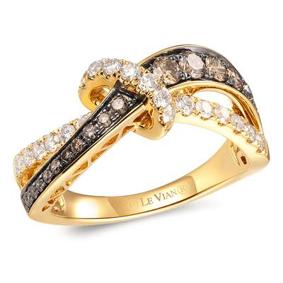 14K Honey Gold™ Ring with Chocolate Diamonds® 3/8 cts., Nude Diamonds™ 3/8 cts. | TROW 8
