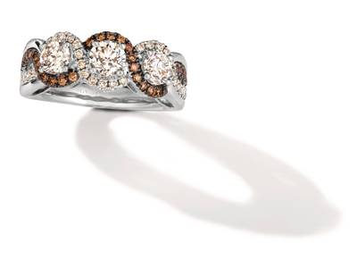 P95 Ring with Nude Diamonds™ 1  3/8 cts., Chocolate Diamonds® 1/4 cts. | TRPN 26
