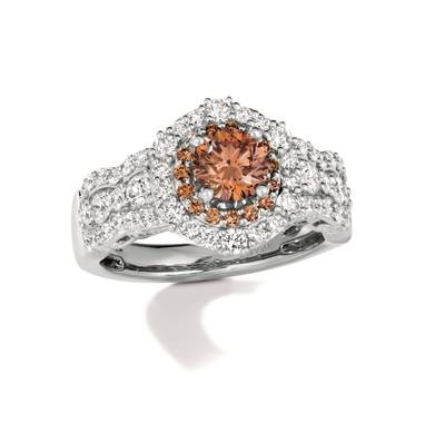 P95 Ring with Chocolate Diamonds® 1 cts., Vanilla Diamonds® 7/8 cts. | TRPN 29