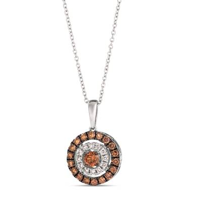14K Vanilla Gold® Pendant with Chocolate Diamonds® 1/2 cts., Nude Diamonds™ 1/10 cts. | TRPN 58WG