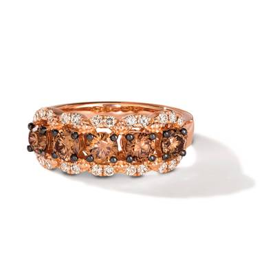 14K Strawberry Gold® Ring with Chocolate Diamonds® 1  1/6 cts., Nude Diamonds™ 3/8 cts. | TRPN 61