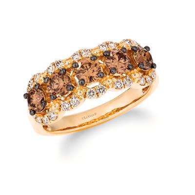 14K Honey Gold™ Ring with Chocolate Diamonds® 1  1/6 cts., Nude Diamonds™ 3/8 cts. | TRPN 61YG