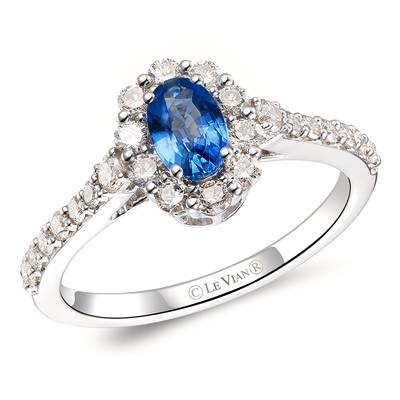 14K Vanilla Gold® Blueberry Sapphire™ 1/2 cts. Ring with Nude Diamonds™ 5/8 cts. | TRPS 27