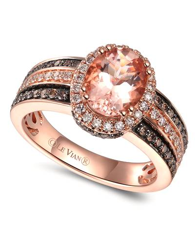 14K Strawberry Gold® Peach Morganite™ 1  1/3 cts. Ring | TRQE 5