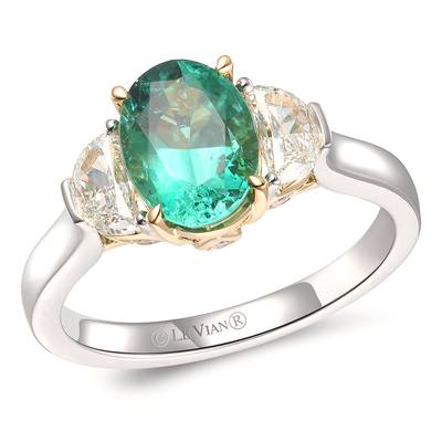 P18 Two Tone Gold Costa Smeralda Emeralds™ 1  1/2 cts. Ring | TRQK 1