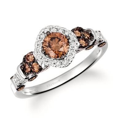 14K Vanilla Gold® Ring with Chocolate Diamonds® 7/8 cts., Nude Diamonds™ 1/5 cts. | TRQX 3