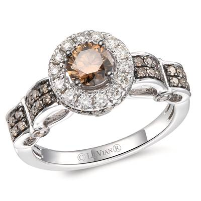 14K Vanilla Gold® Ring with Chocolate Diamonds® 7/8 cts., Nude Diamonds™ 1/4 cts. | TRQX 6