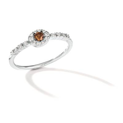 14K Vanilla Gold® Ring with Chocolate Diamonds® 1/10 cts., Nude Diamonds 1/6 cts. | TRRB 35
