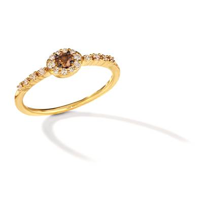 14K Honey Gold™ Ring with Chocolate Diamonds® 1/10 cts., Nude Diamonds 1/6 cts. | TRRB 36