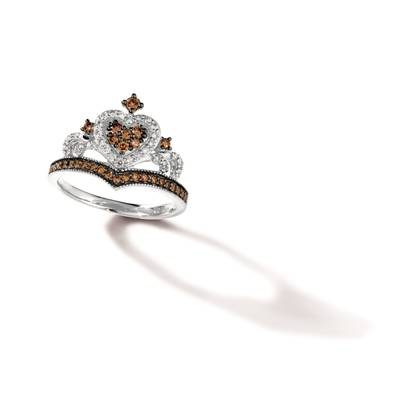 14K Vanilla Gold® Ring with Chocolate Diamonds® 1/3 cts., Nude Diamonds 1/5 cts. | TRRB 39