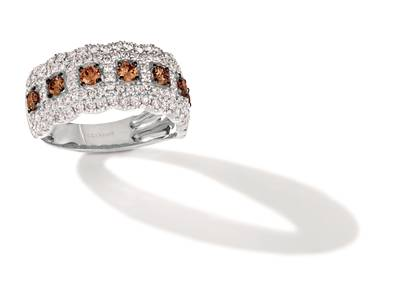 14K Vanilla Gold® Ring with Chocolate Diamonds® 1/2 cts., Nude Diamonds™ 7/8 cts. | TRRB 40