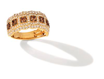 14K Honey Gold™ Ring with Chocolate Diamonds® 1/2 cts., Nude Diamonds 7/8 cts. | TRRB 41
