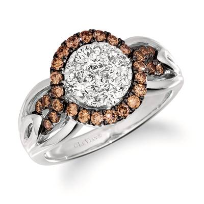 14K Vanilla Gold® Ring with Nude Diamonds 5/8 cts., Chocolate Diamonds® 1/2 cts. | TRRB 65