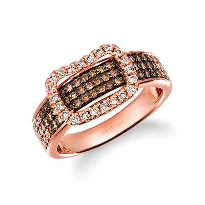 14K Strawberry Gold® Ring with Ombre Diamonds 1/2 cts., Nude Diamonds 1/4 cts. | TRRB 67