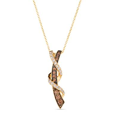 14K Honey Gold™ Pendant with Chocolate Diamonds® 1/3 cts., Nude Diamonds 1/4 cts. | TRRB 78