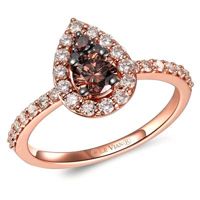 14K Strawberry Gold® Ring with Chocolate Diamonds® 3/8 cts., Nude Diamonds™ 1/2 cts. | TRRM 3