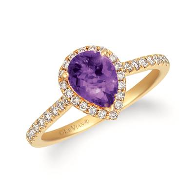 14K Honey Gold™ Grape Amethyst™ 7/8 cts. Ring with Nude Diamonds™ 1/3 cts. | TRWP 1AMYG
