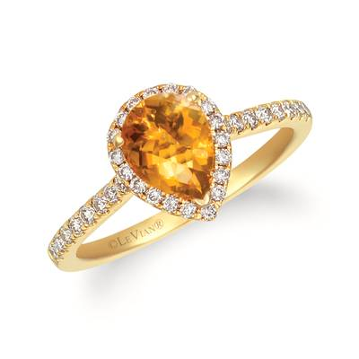 14K Honey Gold™ Cinnamon Citrine® 7/8 cts. Ring with Nude Diamonds™ 1/3 cts. | TRWP 4CTYG