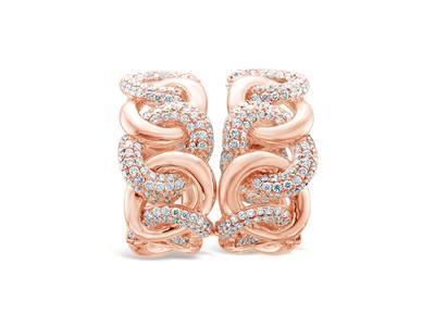 18K Strawberry Gold® Earrings with Vanilla Diamonds® 6 cts. | VIMK 324