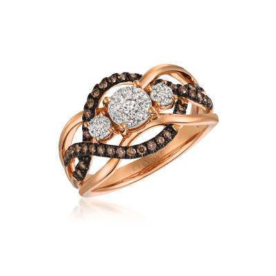 14K Two Tone Gold Ring | WATA 9