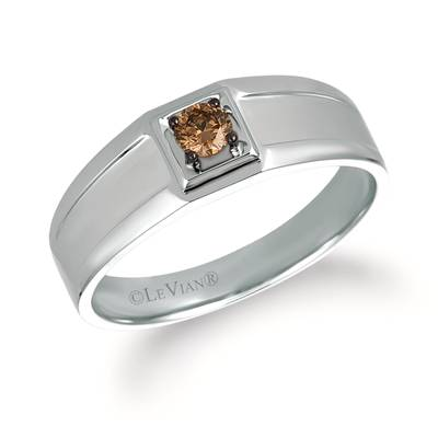 14K Vanilla Gold® Ring with Chocolate Diamonds® 1/5 cts. | WATL 8
