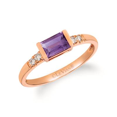 14K Strawberry Gold® Grape Amethyst™ 1/2 cts. Ring with Nude Diamonds™ 1/15 cts. | WAUC 36-070