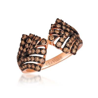 14K Strawberry Gold® Ring with Chocolate Diamonds® 7/8 cts. | WAUG 45