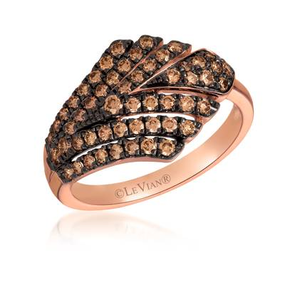 14K Strawberry Gold® Ring with Chocolate Diamonds® 5/8 cts. | WAUG 63