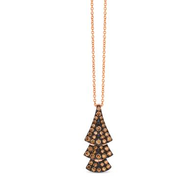 14K Strawberry Gold® Pendant with Chocolate Diamonds® 5/8 cts. | WAUG 78