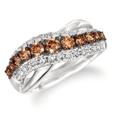 14K Vanilla Gold® Ring with Chocolate Diamonds® 1/2 cts., Nude Diamonds 3/8 cts. | WAUH 11