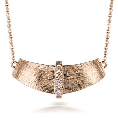 14K Honey Gold™ Necklace with Nude Diamonds™ 1/8 cts. | WAUY 11F