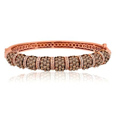 14K Strawberry Gold® Bangle with Chocolate Diamonds® 6  3/8 cts., Vanilla Diamonds® 5/8 cts. | WIGB 2
