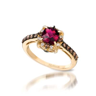 14K Honey Gold™ Passion Ruby™ 1  1/4 cts. Earrings with Vanilla Diamonds® 1/10 cts. | WITG 5
