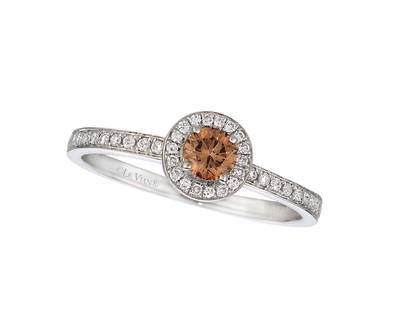 14K Vanilla Gold® Ring with Chocolate Diamonds® 1/4 cts., Vanilla Diamonds® 1/6 cts. | WITP 3