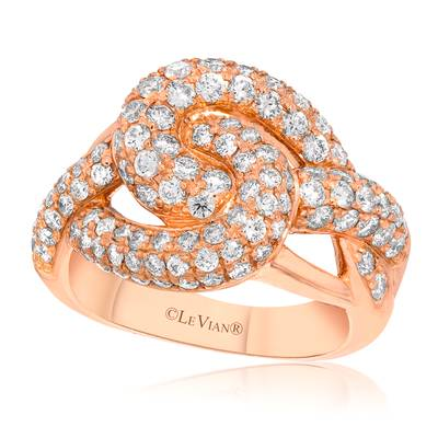 14K Strawberry Gold® Ring with Vanilla Diamonds® 2 cts. | WIUN 10