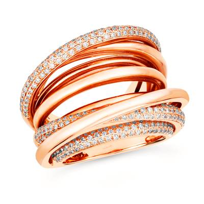 14K Strawberry Gold® Ring with Vanilla Diamonds® 7/8 cts. | WIUQ 3