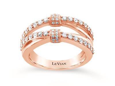 14K Strawberry Gold® Ring with Vanilla Diamonds® 5/8 cts. | WIVO 50