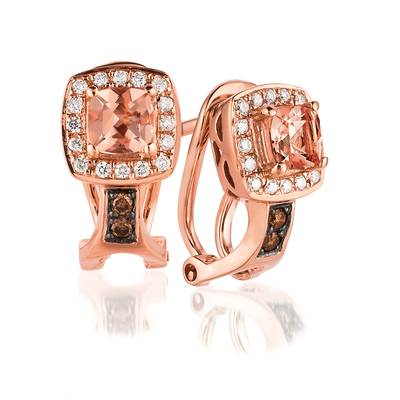 14K Strawberry Gold® Peach Morganite™ 3/8 cts. Earrings | WIZZ 14