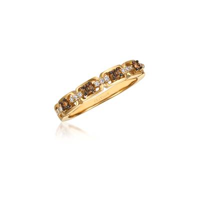 14K Honey Gold™ Ring with Chocolate Diamonds® 1/5 cts., Vanilla Diamonds® 1/15 cts. | WJAK 148