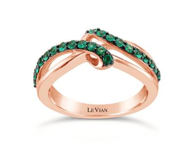 14K Strawberry Gold® Costa Smeralda Emeralds™ 1/3 cts. Ring | WJAW 79