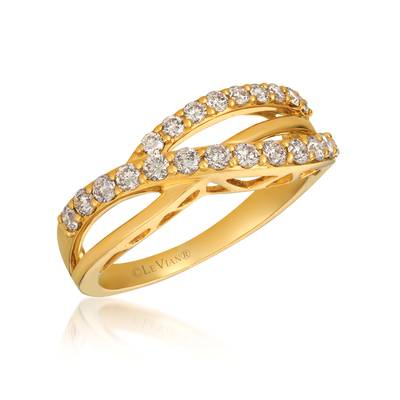 14K Honey Gold™ Ring with Nude Diamonds™ 5/8 cts. | WJCB 51