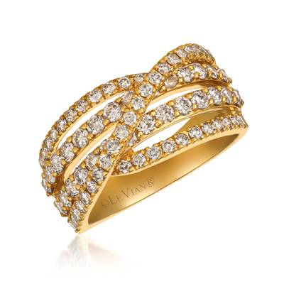 14K Honey Gold™ Ring with Nude Diamonds™ 1  1/2 cts. | WJCB 52