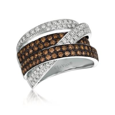 14K Vanilla Gold® Ring with Vanilla Diamonds® 5/8 cts., Chocolate Diamonds® 3/4 cts. | WJCF 121